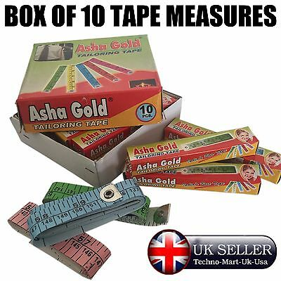 "10X TAPE MEASURE 60"" / 150cm / 1.5m. SEWING / TAILORING / BODY DIET / DIY."