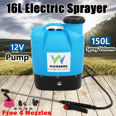 New 16L Electric Weed Sprayer Rechargeable Chemical Pressure Spray Garden Farm