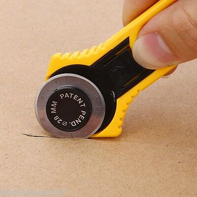 28MM Rotary Cutter Roller Blade Patchwork Leather Vinyl Paper Sewing Craft Tool