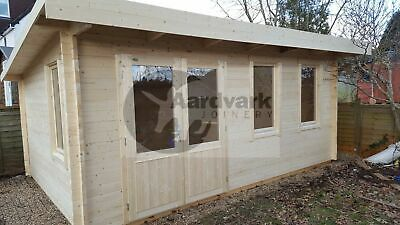 Sidmouth Log cabin, home office, summer room, 44mm thick walls 5.7m x 4.15m