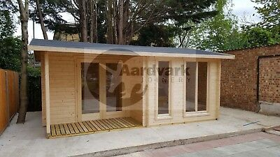 Queensland Log cabin, home office, summer room, 44mm thick walls 5.8m x 4.29m