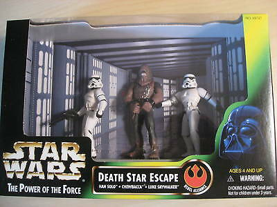 Star Wars - Death Star Escape/ Han Solo/Chewbacca/ Luke Action Figures - 1997