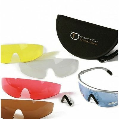 Top Gun Premier Plus Safety Shooting Glasses with Perscription Lens Adaptor