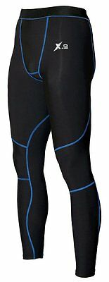 X-2 Mens Compression Running Skin Tights Base Layer  Gym Sports