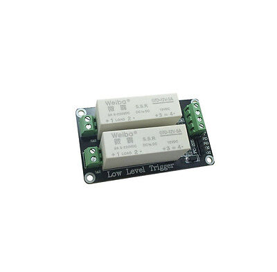 2 Channel SSR Solid State Relay low Trigger 5A 0-2V DC-DC Arduino Uno R3