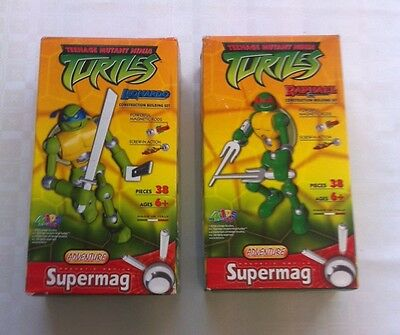 Teenage Mutant Ninja Turtles Leonardo & Raphael Construction Magnetic Supermag