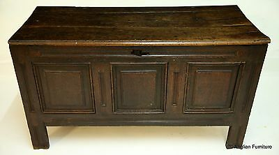 18th Century Oak Coffer H69cm x W122cm x D55cm FREE Nationwide Delivery