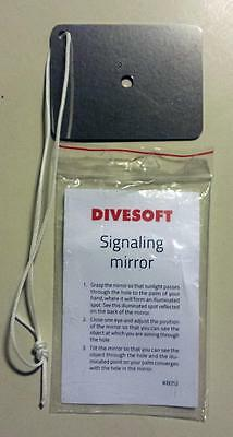 New Divesoft Scuba Stainless Steel survival safety signaling mirror 2.5x3""