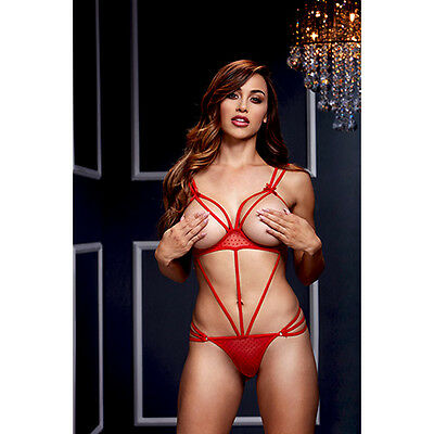 Body Baci Strappy Open Red