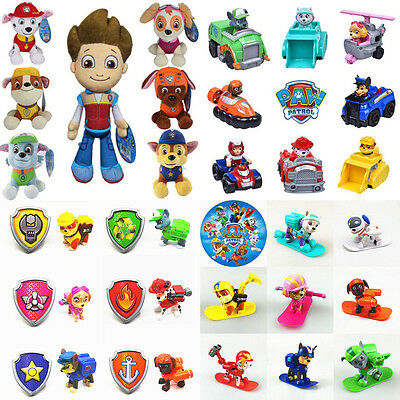 Cute Paw Patrol Action Figures Backpack Racer Soft Plush Doll Kids Toy Xmas Gift