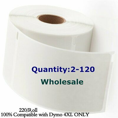 220/Roll DYMO 4XL Direct Thermal Shipping Postage Labels 4x6 1744907 compatible