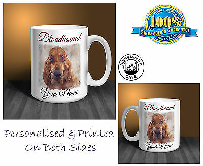 Bloodhound Personalised Ceramic Mug: Perfect Gift. (D306)