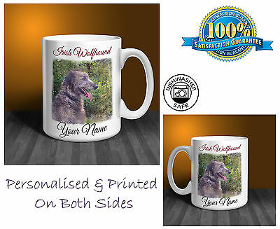 Irish Wolfhound Personalised Ceramic Mug: Perfect Gift. (D297)