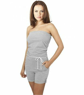 Jumpsuit URBAN CLASSICS Ladies Grau Jumpsuit Stretch
