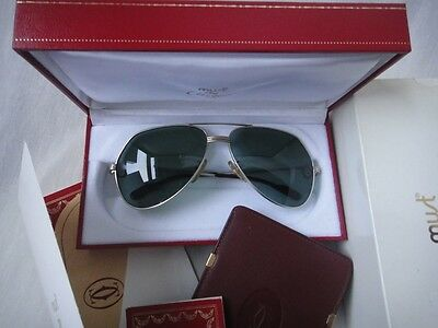 New Vintage Cartier Aviator Titanium 62Mm Medium Vendome Sunglasses France