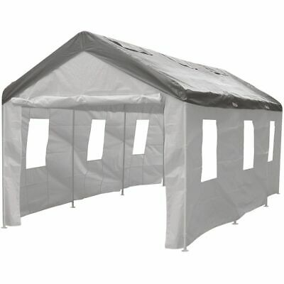 CoverALL Carport Side Wall Enclosure Kit -White, 4 Piece