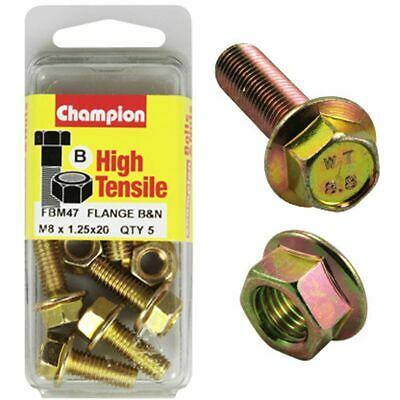 Champion Flange Bolts - M8x20, High Tensile