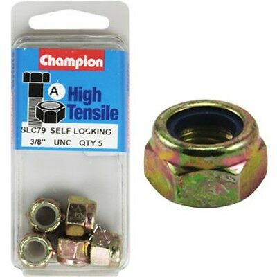 Champion Nyloc Nuts - UNC 3/8, High Tensile