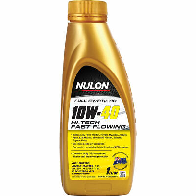 Nulon Full Synthetic Hi-Tech Fast Flowing Engine Oil - 10W-40, 1 Litre