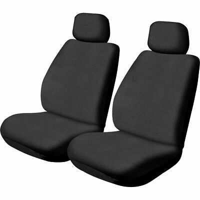 SCA Canvas Seat Covers - Black, Adjustable Headrests, Size 30, Front Pair, Ai...