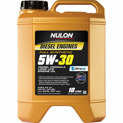 Nulon Full Synthetic Long Life Diesel Engine Oil - 5W-30, 10 Litre