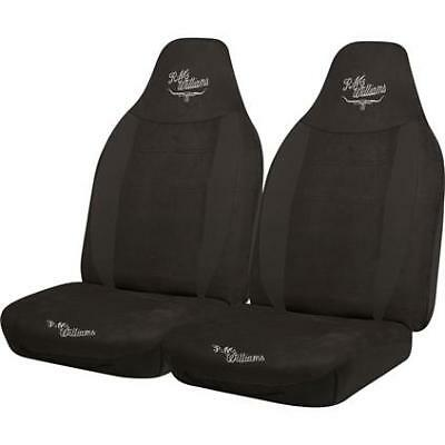R.M.Williams Suede Velour Seat Covers - Black, Built-in Headrests, Size 60, F...