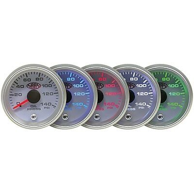 SAAS Gauge - White Face, 52mm, Oil Pressure