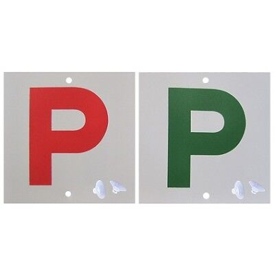 P Plate - Double Sided, Red P & Green P, QLD, 2 Pack