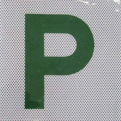 P Plate - Clear Vision, Green, QLD, 2 Pack