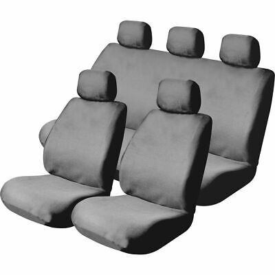 SCA Mesh Seat Cover Pack -  Grey, Adjustable Headrests, Front Pair and Rear, ...