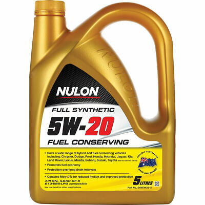 Nulon Fuel Conserving Synthetic Engine Oil - 5W-20, 5 Litre