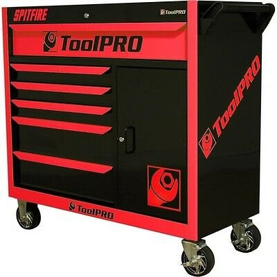 """ToolPro Neon Tool Cabinet - 6 Drawer, Roller Cabinet, 42"""", Spitfire"""