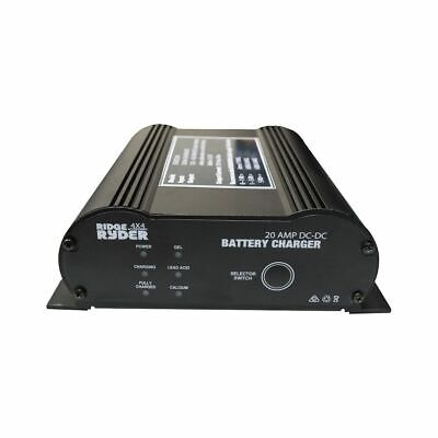 Ridge Ryder 12v Battery Charger - DC-DC In Vehicle, 20 Amp
