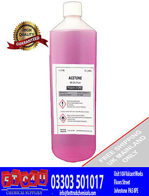 1 X 1 Litre Pink ACETONE NAIL VARNISH REMOVER 99.8% FREE FAST SHIPPING