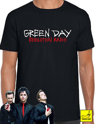 Green Day Revolution Radio T-Shirt Tour Dookie American Idiot Welcome Tee
