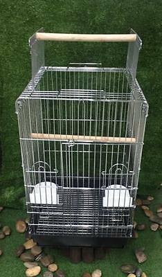 Stainless steel OPEN TOP PARROT AMAZONS COCKTELS  INDIAN RING NICK LOVEBIRD CAGE