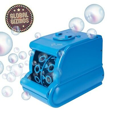 Portable Dj Party Bubble Making Blowing Machine Battery Operated Blue Club Xmas