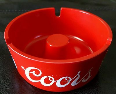 Brand New Original 1970's Coors Red Plastic Brookpark 1601 Ashtray Free Shipping