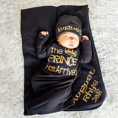 Cute Newborn Baby Boy Prince Cotton Sleeping Bag Swaddle Wrap Blanket Sleepsacks
