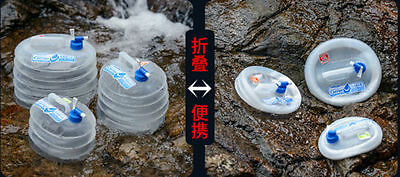 Camping Folding Collapsible Water Carrier Bucket Tap Storage Container 5L/10L/15