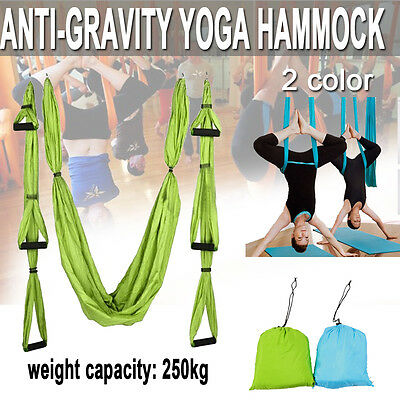 Aerial Anti-Gravity Yoga Hammock Swing Trapeze Fitness Inversion Pilates Home OZ