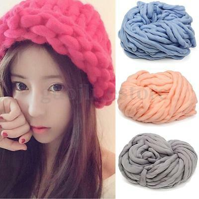 260g Soft Knitting Chunky Yarn Wool Thickness Roving Bulky Spinning Craft 35m