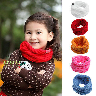 New Children Baby Girl Autumn Winter Knitted Warmer Scarf Neck Scarves Bibs Wrap