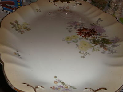 True Antique Doulton Burslem BLUSH IVORY 'Chrysanthemum' Meat Platter - Festive?