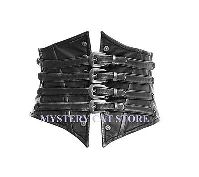 NEW Punk Rave Rock Gothic Black & Silver Corset Belt  Y659ALL STOCK IN AUSTRALIA