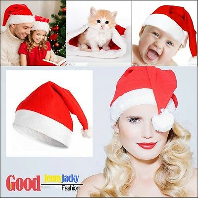 Christmas Party Baby Adult Santa Hat Red And White Xmas Cap for Santa Claus Gift