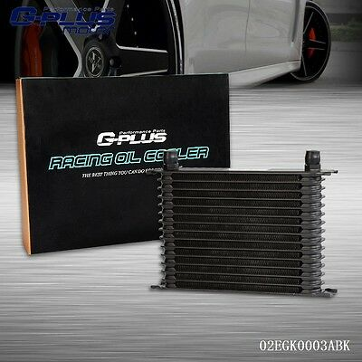 UK 15 Row AN-10AN Universal Aluminum Engine Transmission Oil Cooler Black