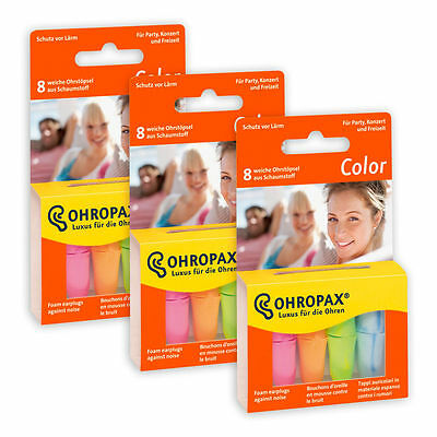 OHROPAX Color Foam Party Ear Plugs MULTIBUY (3 pack, 24 Ear Plugs)