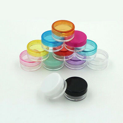 10Pcs Cosmetic Container Makeup Face Cream New Pop Lip Balm Empty Jar Eyeshadow