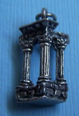 Vintage ancient columns Greek or Roman silver charm